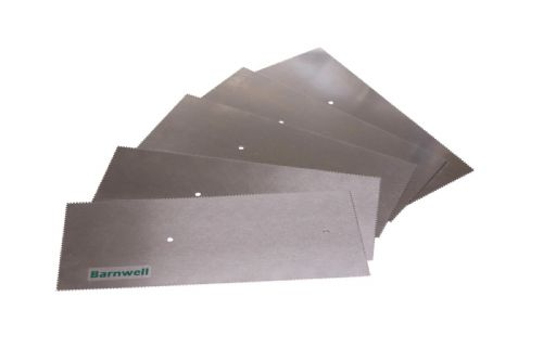 Barnwell 1.5mm Notched Adhesive Trowel Blade x 5